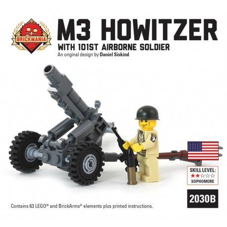 M3 105mm Howitzer with 101st Airborne Soldier