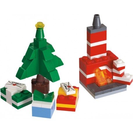 LEGO ® Christmas tree with fireplace