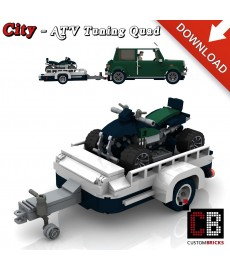 Mini Cooper - ATV Tuning Quad with trailer - Building instructions