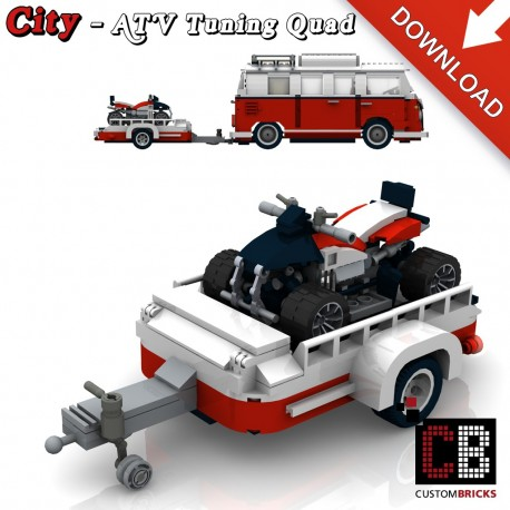 T1 Bus - ATV Tuning Quad with trailer - Building instructions