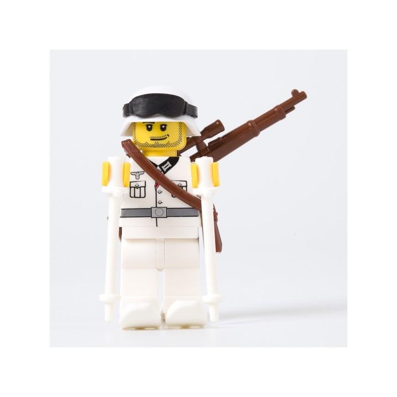 Skifahrende Wehrmacht Soldat