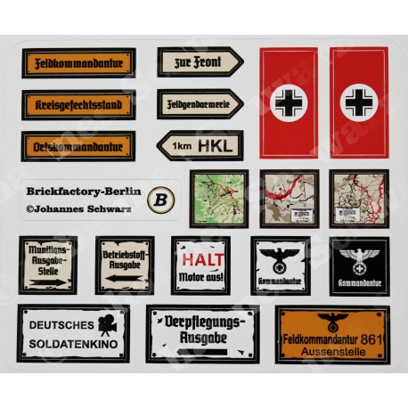 WK2 - Stickerbogen Set 2