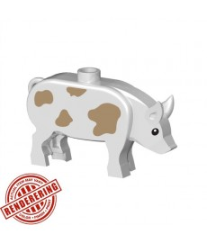 BrickForge Pig - White with spots