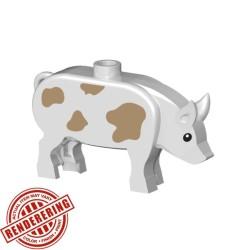 BrickForge Schwein - Weiß mit Punkten