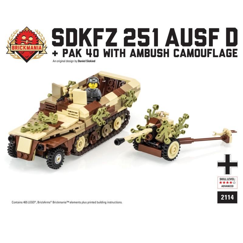 SdKfz 251 ausf D + Pak 40 - Camo