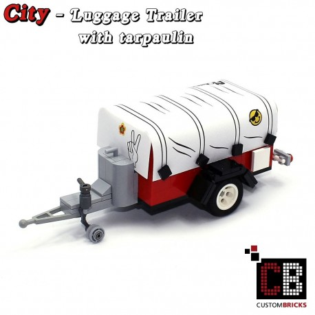Luggage trailer T1 with tarpaulin
