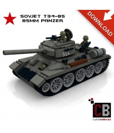 T34-85 85mm Tank - Building instructions