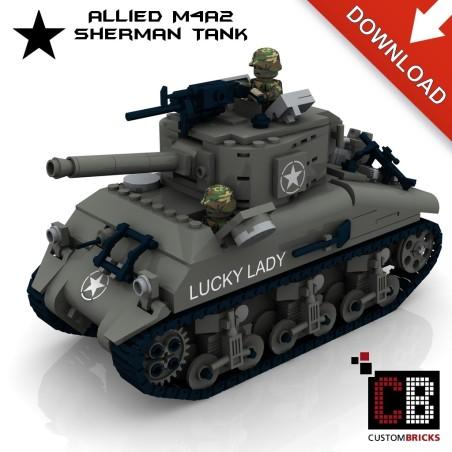 M4A2 Sherman Tank - Bouwinstructies