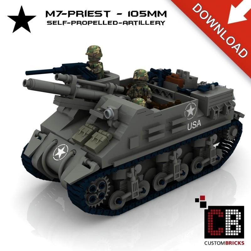 M7 Priest Artillerie - Bouwinstructies