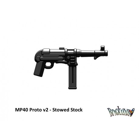 BrickArms MP40 Proto v2 - Stowed Stock