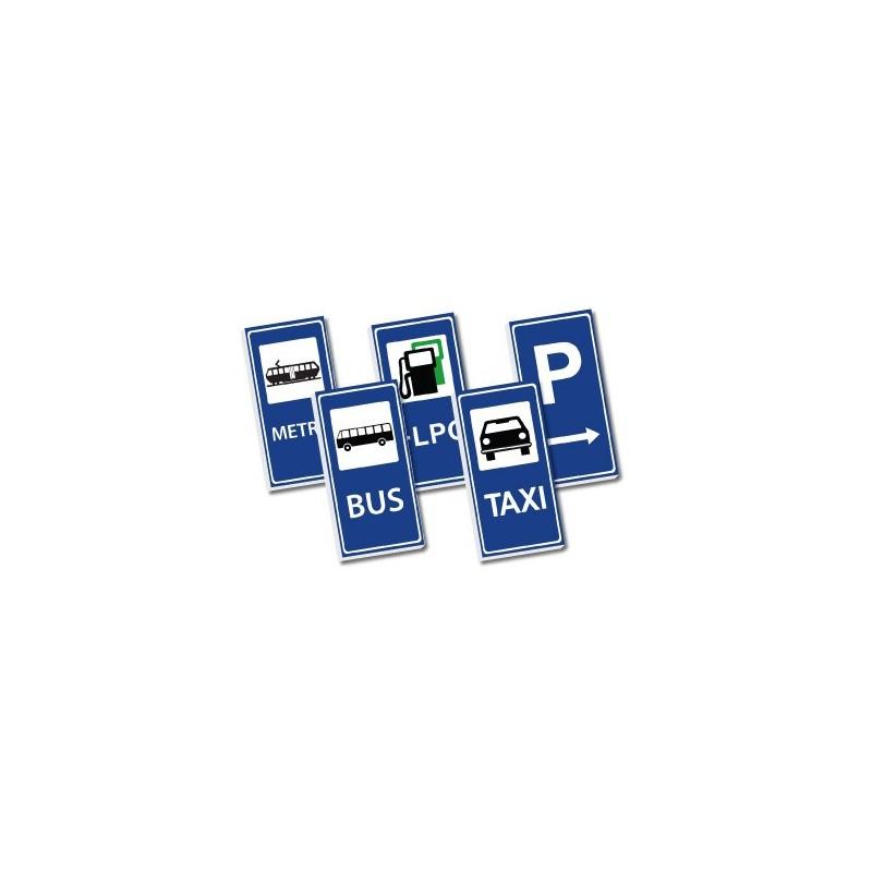 2x4 Verkehrsschilder Set - blau