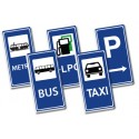 2x4 Traffic signs set - blue