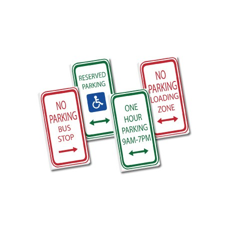 2x4 Traffic signs set - white