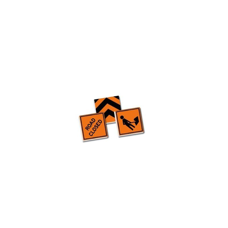 2x2 verkeersborden set - oranje