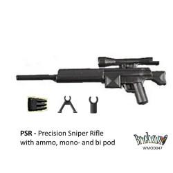 HCSR Scherpschutter geweer met ammo, mono- en bi pod