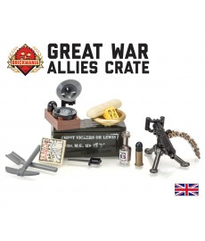 Great War Allies Crate mit Vickers Maschinengewehr