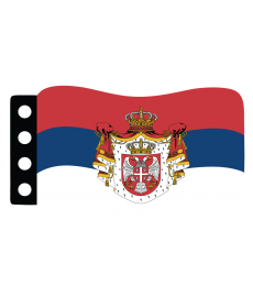 World War I Flag : Serbia