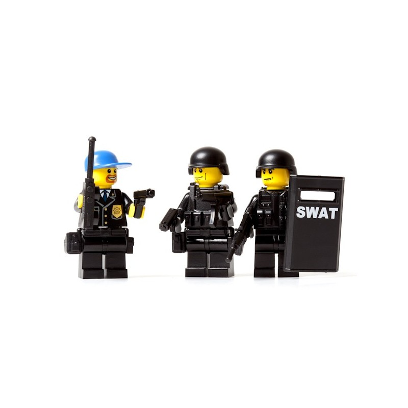 Lego New Black Minfigure Swat Team Gun with Scope and Long Barrel Weapon