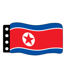 Flag : North Korea