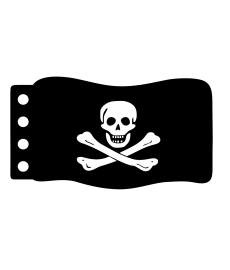 Flage : Piraten Vlag