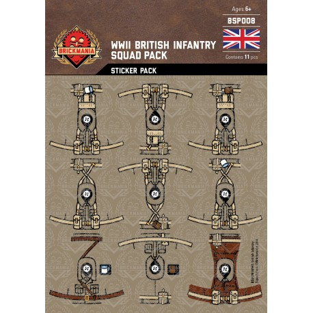 WW2 - Britse Infanterie - Sticker Pack