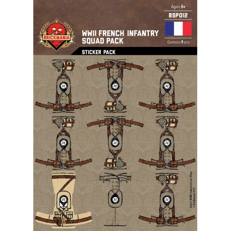 WW2 - French Infantry - Sticker Pack