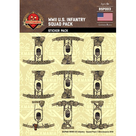 WW2 - U.S. Infanterie - Sticker Pack