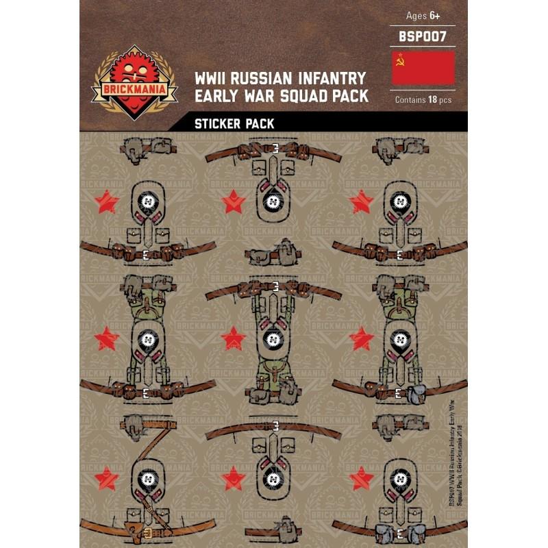 WW2 - Russian Infantry - Sticker Pack