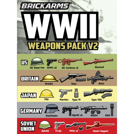 BrickArms WW2 Waffen Set
