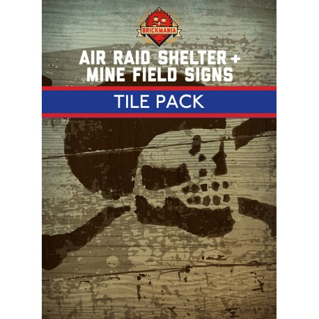 Air Raid Shelter & Mine Field tegel set