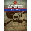 Air Raid Shelter & Mine Field Sign Tiles set