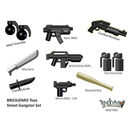 Straßen Gangster Waffen Set