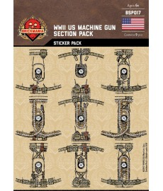 WW2 -US Machine Gun- Sticker Pack
