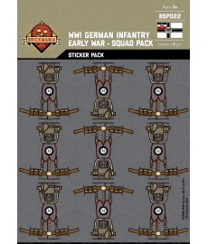 WW1 - German Infantry Early War - Sticker Pack