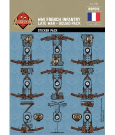 WW1 -French Infantary Late War - Sticker Pack