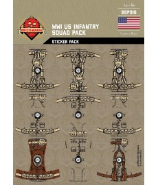 WW1 -US Infantry - Sticker Pack
