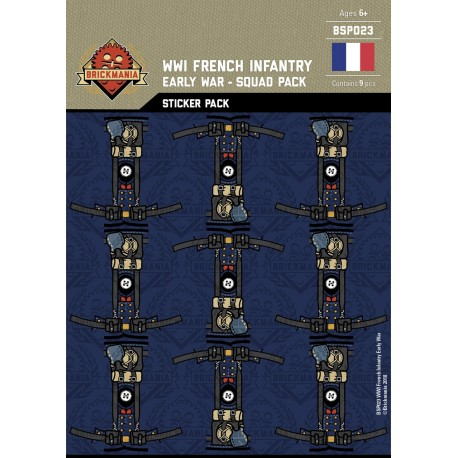 WW1 -French Infantry Early War- Sticker Pack