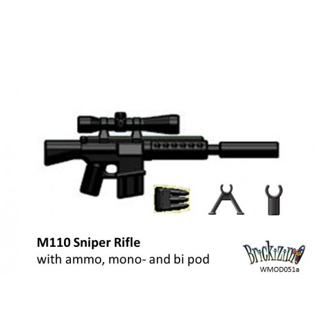 M110 Sniper Rifle with ammo clip, mono- and bi pod