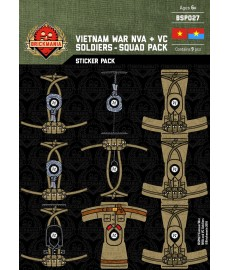 Vietnam War NVA and VC Soldiers - Stickers