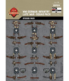 WK1 - German Infantry Late War - Sticker Pack