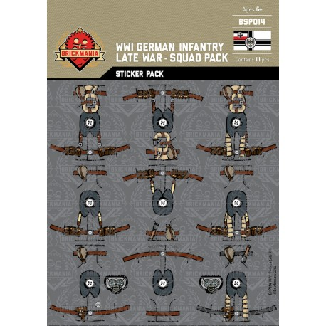 WW1 - German Infantry Late War - Sticker Pack